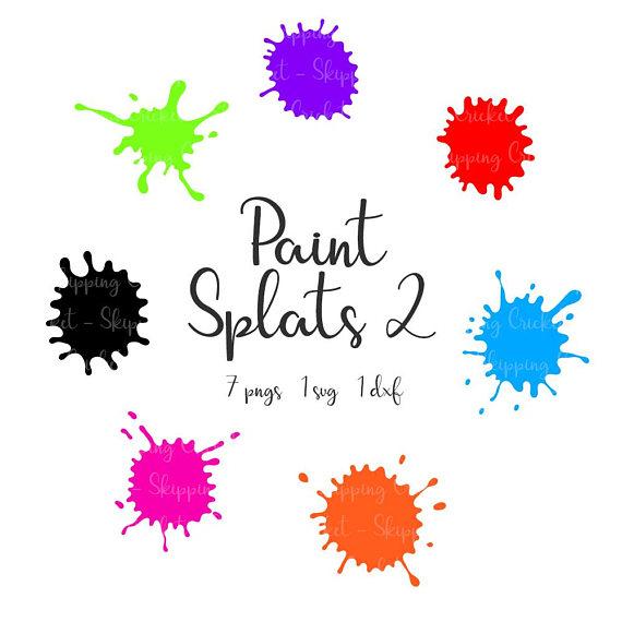 570x570 Paint Splats Svg Dxf Amp Png, Silhouette Cricut, Vector, Clipart