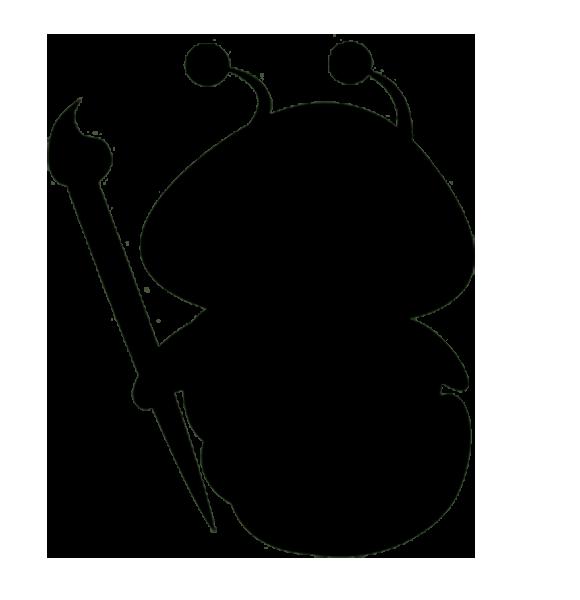 580x600 Silhouette Ink Brush Clip Art