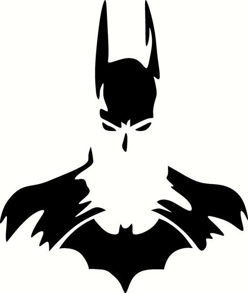 508x600 Batman Silhouette Vinyl Decal Graphic