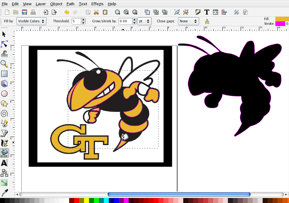 932x655 More On Using The Paint Bucket In Inkscape Svg File, Filing