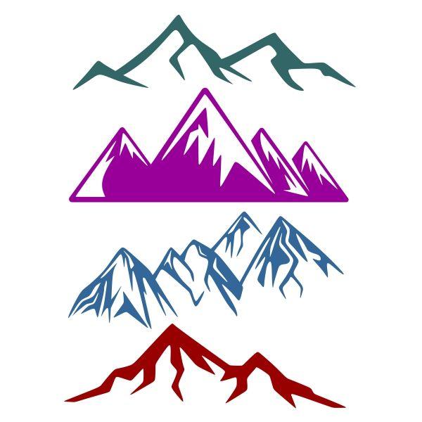 600x600 Mountain Pack Cuttable Design Cut File. Vector, Clipart, Digital