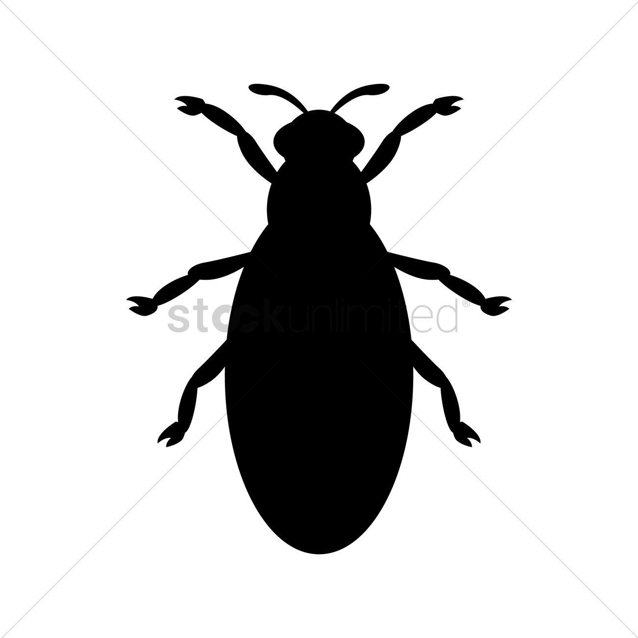 1300x1300 Bug Silhouette Vector Image