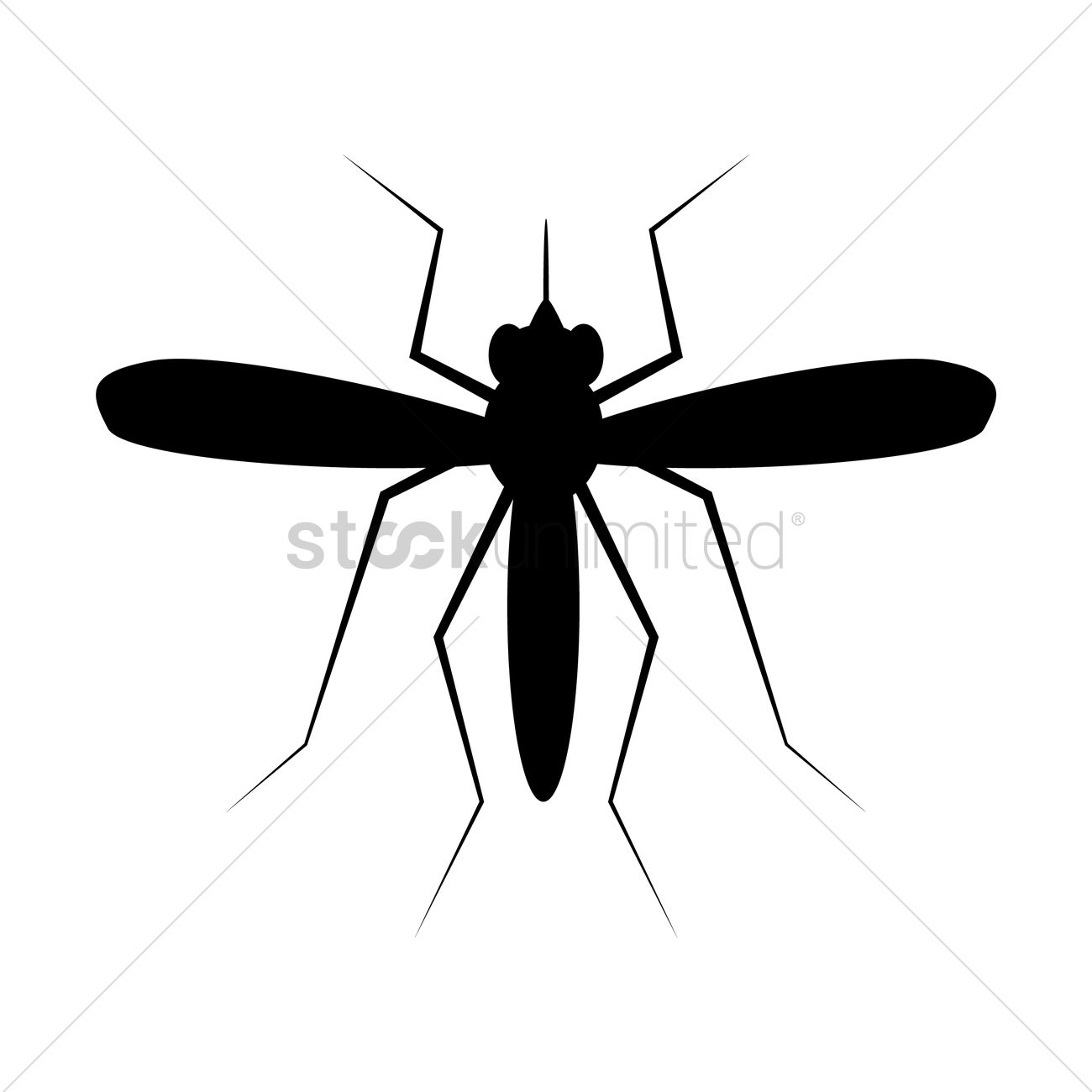 1300x1300 Mosquito Silhouette Vector Image