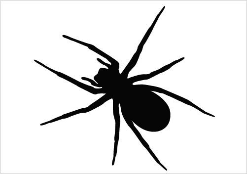 501x352 An Ideal Spider Vector Silhouette Vector Clipart In Detail Design