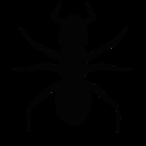500x500 Ant Vector Silhouette Public Domain Vectors