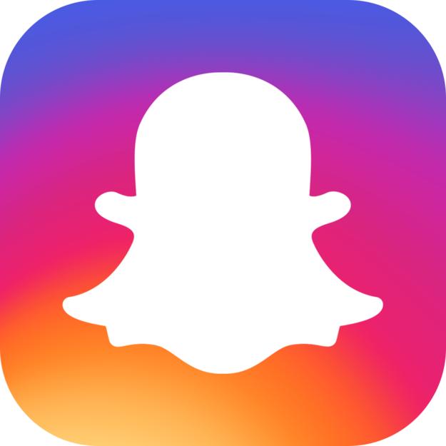 625x625 Instagram Logo Silhouette