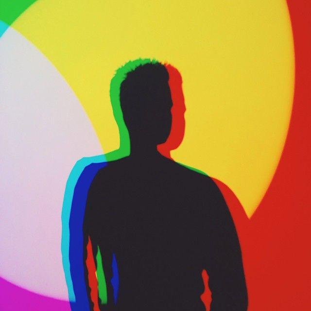 640x640 Neon Rainbow Silhouette Portrait