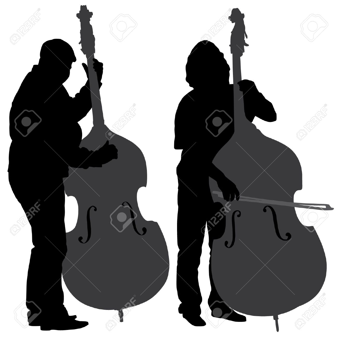 1300x1300 Bass Silhouette Clipart