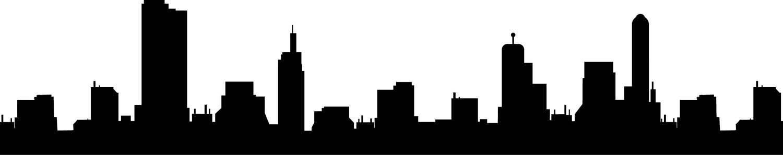 1500x297 City Skyline Buildings Svg Clipart, International City Digital