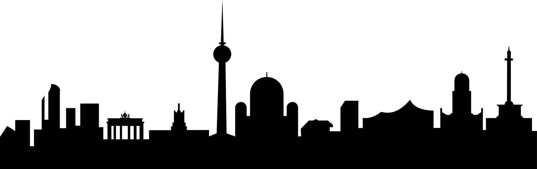 1500x473 City Skyline Berlin Svg Clipart, International City Digital File