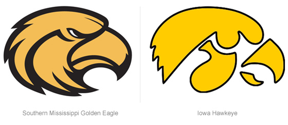 560x243 Brandchannel Logo Showdown Iowa Hawkeyes Clips Southern Miss
