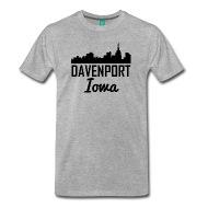 190x190 Davenport Iowa Skyline By Awesome Shirts Spreadshirt