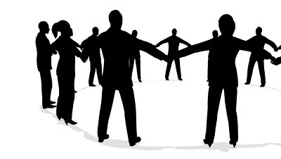 400x226 Free Silhouette Of People Holding Hands, Hanslodge Clip Art Collection