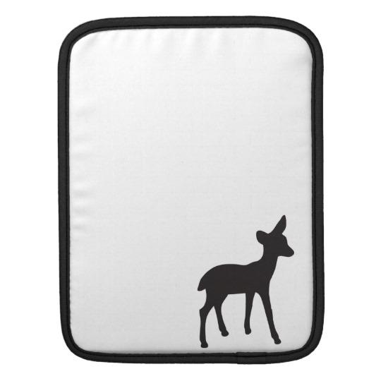 540x540 Deer Fawn Black White Silhouette Ipad Sleeve
