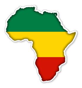 278x300 Africa Map Silhouette Flag Vinyl Car Van Ipad Laptop Sticker Ebay