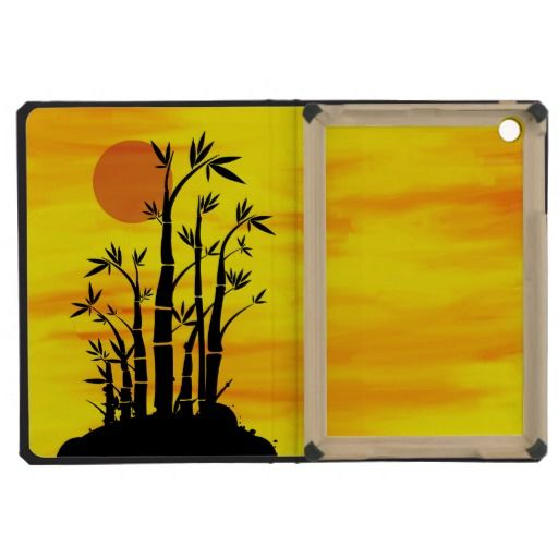 512x512n Ipad Mini Case Featuring Silhouette Of Bamboo Treesgainst