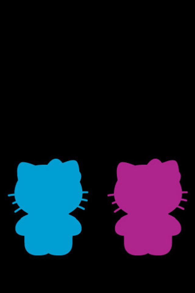 640x960 Hello Kitty Silhouette Wallpaper