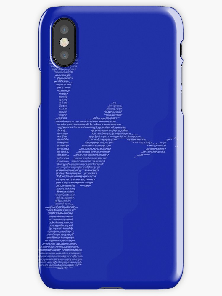 750x1000 Singin' In The Rain Lyric Silhouette Iphone Cases Amp Covers By