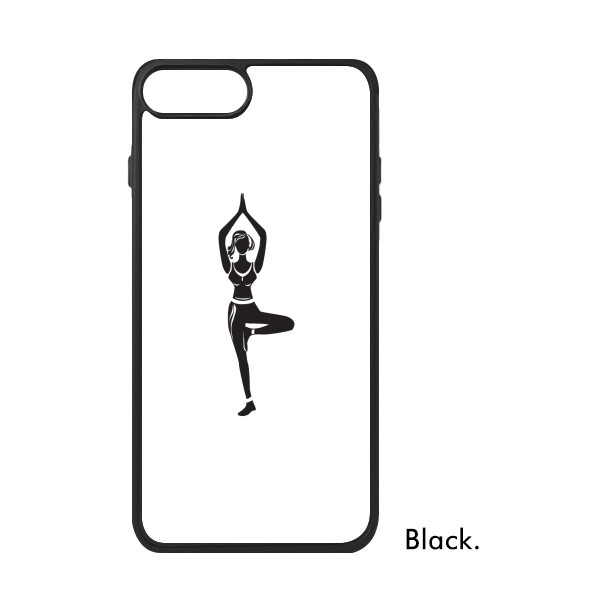 600x600 Yoga Girl One Leg Stand Keep Healthy Sports Silhouette For Iphone