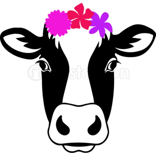 600x600 Cow Head With Flowers Silhouette Iphone 66s Plus Case