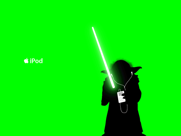 598x448 Old! Star Wars Ipod Silhouette Ad Spoof Obama Pacman