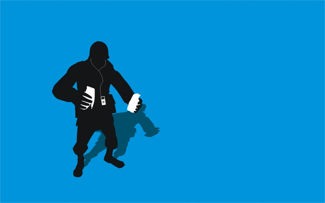 1131x707 Tf2 Blue Soldier Silhouette Ipod Earbuds 2560x1600 By Cwegrecki