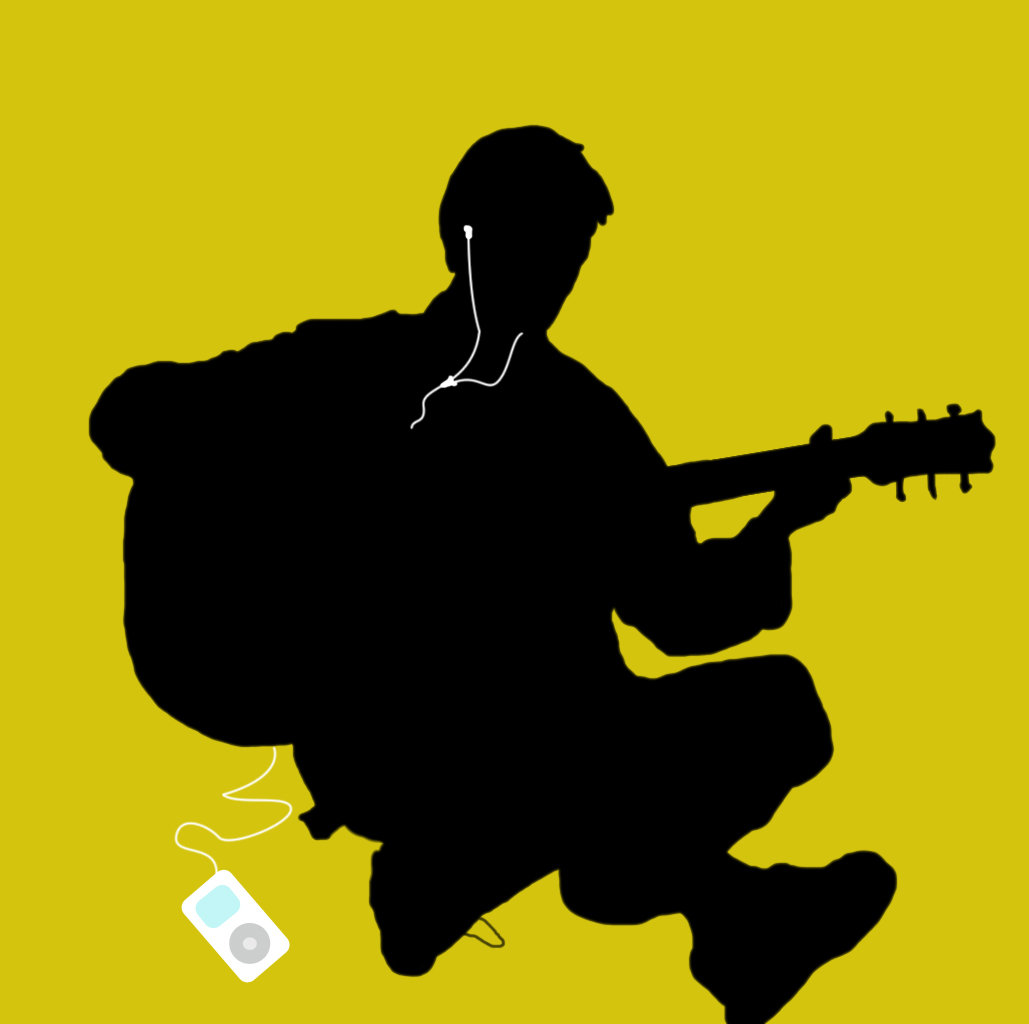 1029x1024 Ipod Silhouette Guitar By Dr Unknown 2u