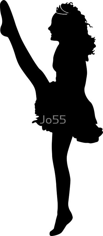350x800 Irish Dancer High Kick Stickers By Jo55 Redbubble