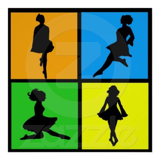 512x512 Idance Irish Dancer Silhouettes Print Dance Dancer