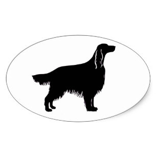 307x307 Irish Setter Silhouette Stickers Zazzle