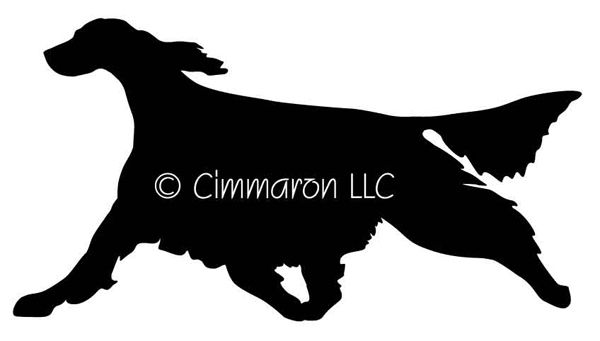 600x341 Gaiting Irish Setter Silhouette