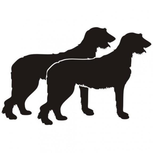650x650 Irish Wolfhound Aufkleber, Irish Wolfhound Autoaufkleber