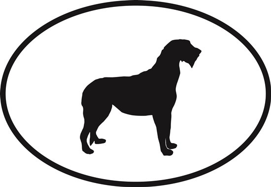 550x379 Irish Wolfhound Oval Euro Bumper Sticker Oval Envy