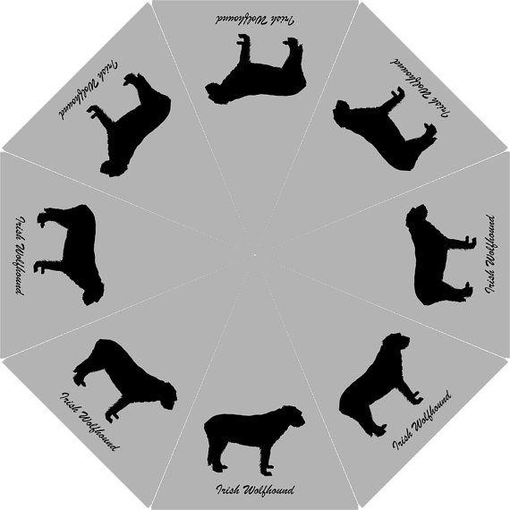 570x570 Silhouette Irish Wolfhound Umbrella Irish Wolfhound Lovers Stuff