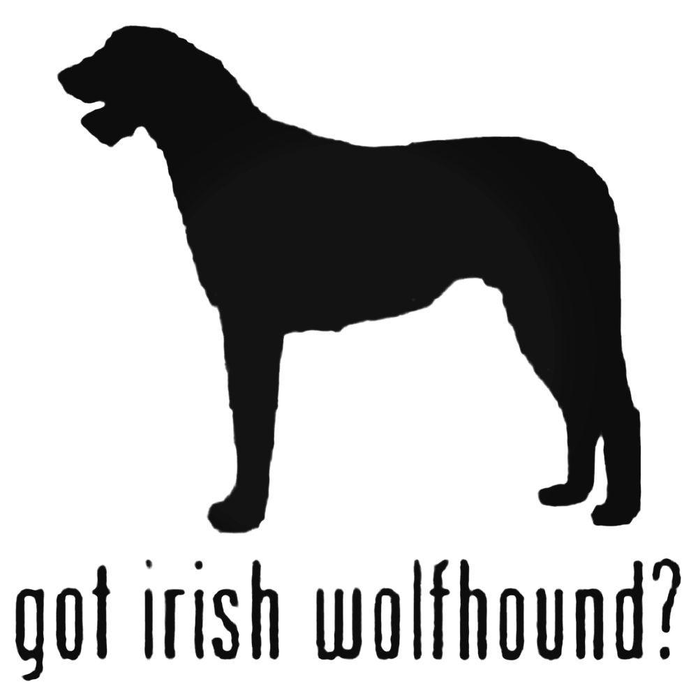 1000x1000 Got Irish Wolfhound Dog Silhouette Decal Sticker Irish Wolfhound