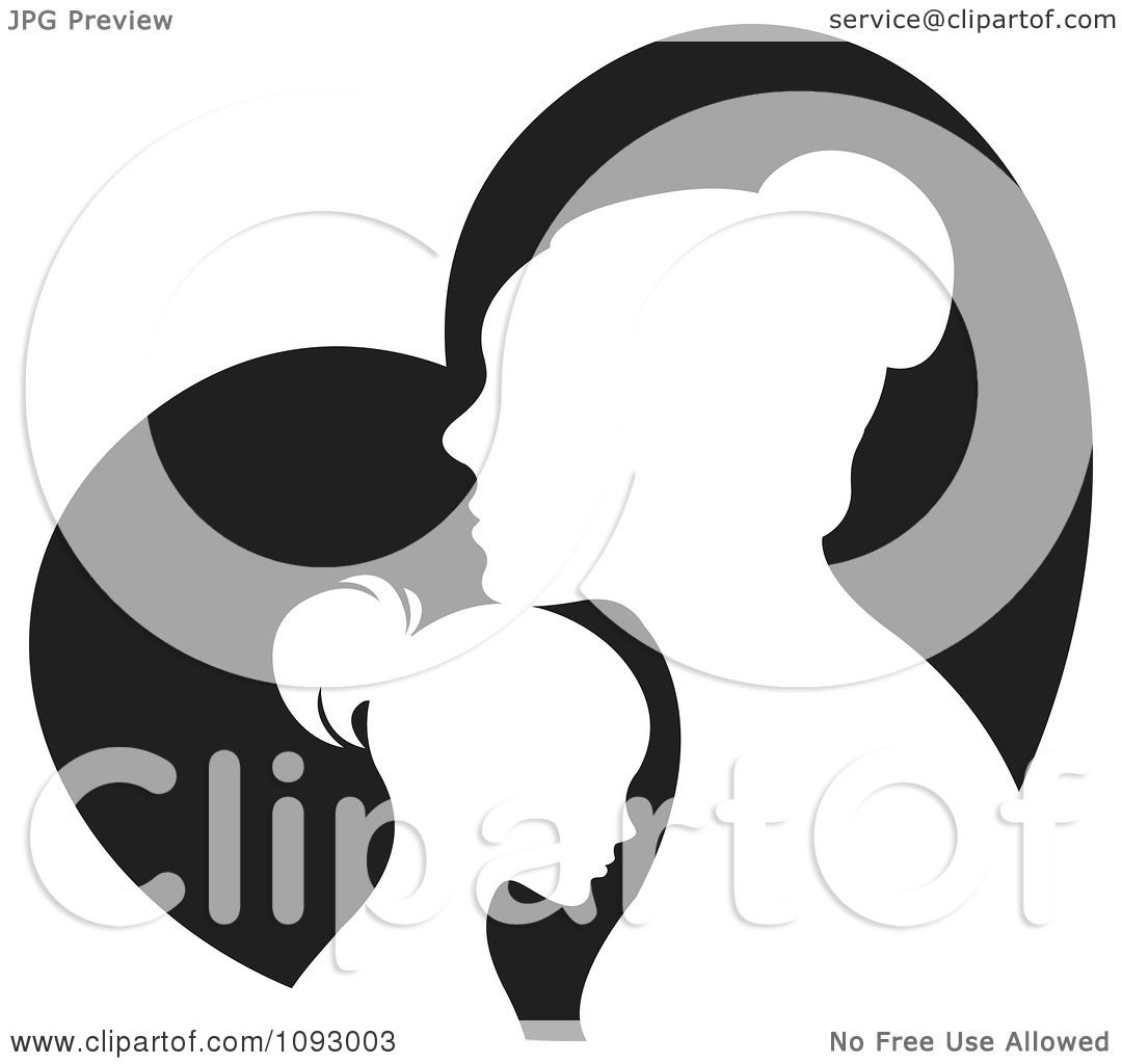 1080x1024 Head Profile Heart And Hands Clipart