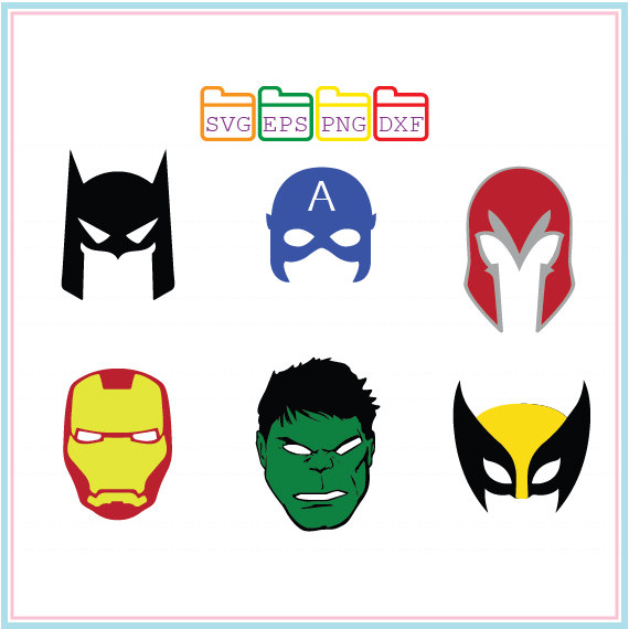 570x570 Hulk, Captain,iron Man, Batman Mask, Svg Dxf Png Eps,cutting File