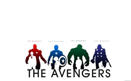 420x262 Hulk Comic Character Iron Man Thor Captain America Silhouette
