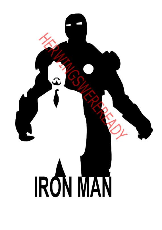 570x806 Avengers Iron Man Silhouette Svg Scrapbook Supply Heaven