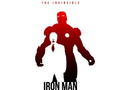 Iron Man Silhouette Vector