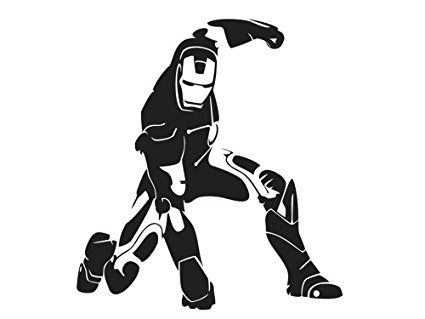 iron man silhouette vector at getdrawings | free download