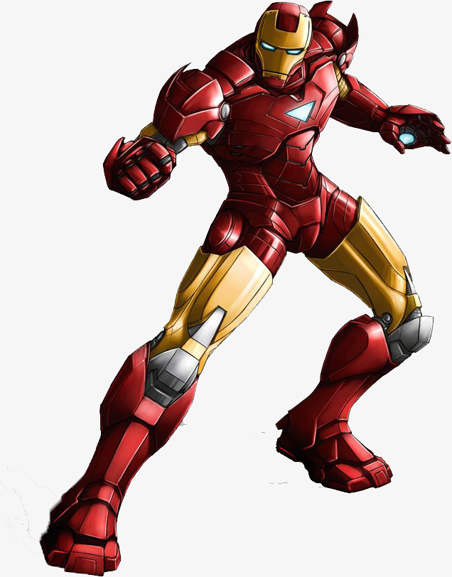 636x812 Battle Iron Man, Iron Man, Cartoon, Serious Png Image And Clipart
