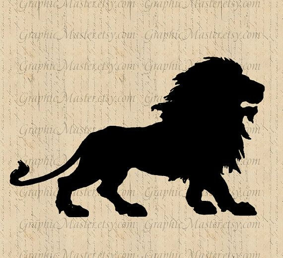570x519 Lion Silhouette Jpg Png Clip Art Digital Collage Sheet Image