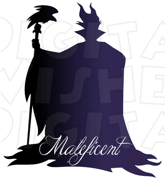 570x621 Maleficent Silhouette Digital Iron On Transfer Clip Art