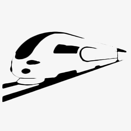 500x500 Silhouette Of A Black High Iron Locomotive, Train, Locomotive
