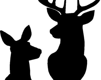 340x270 Buck And Doe Silhouette Stencil Or Decal As Shown In The First