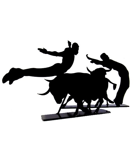 534x600 Bull Trimmers Iron Silhouette, Bullfighting Souvenirs In Zings Online