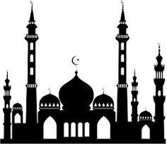 236x204 Islamic Mosque Silhouette Vector Illustration Mosque, Islamic