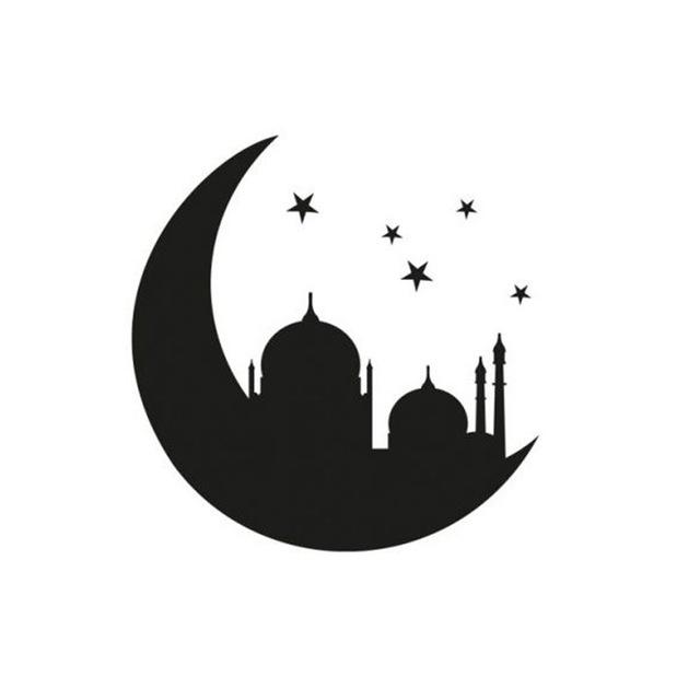 640x640 Islamic Muslim Mosque In The Moon Wall Sticker Bedroom Headboard