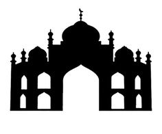 236x196 Islamic City Silhouettes For Design. Vector Illustration